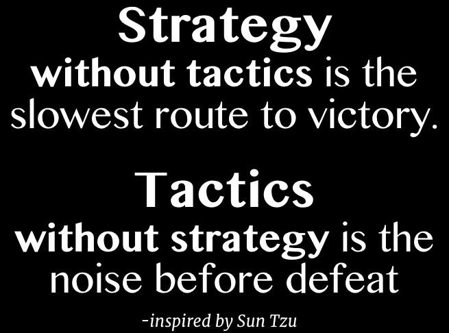 strategy vs tactic